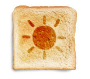 Toast bread with sun drawing Royalty Free Stock Images