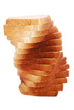 Toast bread tower Stock Photo