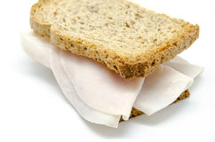 Toast bread with turkey ham slice Stock Photos