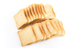 Toast bread   on white Royalty Free Stock Photo