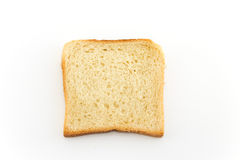 Toast bread   on white Stock Photos