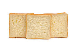 Toast Bread on the white Stock Photo