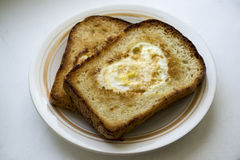 Toast for breakfast. For the beloved on Valentine's Day Stock Images