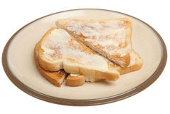 Toast and Butter Stock Photography