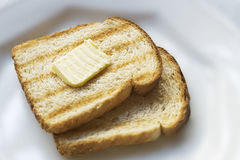 Toast with butter Royalty Free Stock Photography