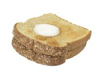 Toast and Butter. Two slices of toast with melting butter royalty free stock photography