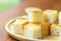 Toast Butter fill milk and sugar Stock Photography