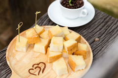Toast Butter fill milk and sugar Royalty Free Stock Photos