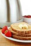 Toast with Butter and Jelly Royalty Free Stock Images