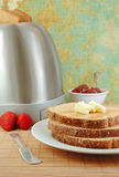 Toast with Butter and Jelly Stock Photography