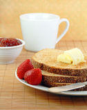 Toast with Butter and Jelly Royalty Free Stock Image