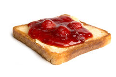 Toast with butter and strawberry jam Royalty Free Stock Photography