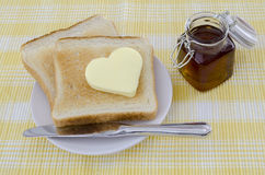 Toast with butter Stock Photography