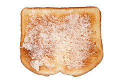 Toast with butter on white Royalty Free Stock Photo