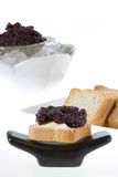 Toast with caviar Stock Images