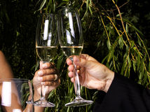Toast in champagne Stock Photo