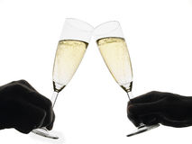 Toast with champagne flutes Royalty Free Stock Photography