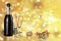 Toast champagne. And light background Stock Photography