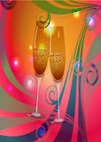 Toast champagne wine Stock Images