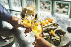 Toast Cheers Alcohol Beverage Celebration Party Concept Royalty Free Stock Image