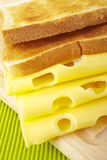 Toast and cheese Royalty Free Stock Photos