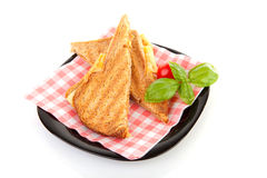 Toast cheese pressed sandwich Stock Images