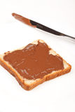 Toast with chocolate Royalty Free Stock Images