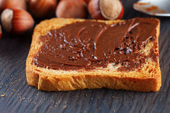 Toast with chocolate Royalty Free Stock Photo