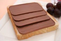 Toast with chocolate Stock Image