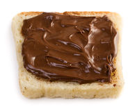 Toast with chocolate spread Stock Images