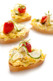 Toast with chopped egg Royalty Free Stock Image