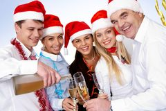 Toast for Christmas Stock Photography