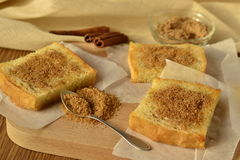 Toast with cinnamon and sugar Stock Image