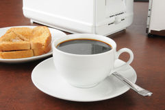 Toast and coffee Royalty Free Stock Photos