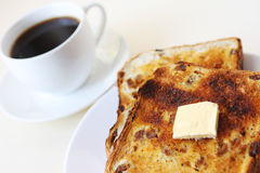 Toast and Coffee Stock Photo