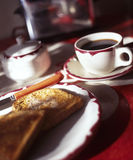 Toast and Coffee Royalty Free Stock Images