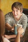 Toast with Coffee Mugs Royalty Free Stock Photos
