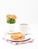 Toast and Coffee Portrait Stock Image