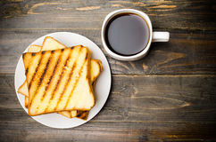 Toast and coffee Stock Photography