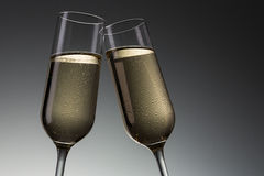 Toast with cold champagne Stock Image