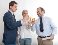 Toast among colleagues Royalty Free Stock Images