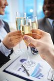 Toast for companionship Stock Photography
