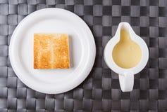 Toast And Condensed Milk III Stock Photo