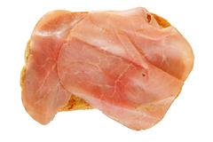 Toast with cooked ham Royalty Free Stock Image