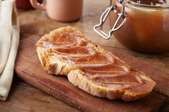 Toast with creme de marrons Stock Images