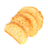 Toast crispy. On white background Royalty Free Stock Photography
