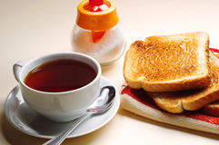 Toast and cup of tea Stock Photos