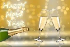 Toast des glücklichen neuen Jahres Stockbilder