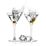 A Toast with Dry Martini. Cocktail. Splash Royalty Free Stock Images