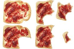 Toast Eaten Royalty Free Stock Photo